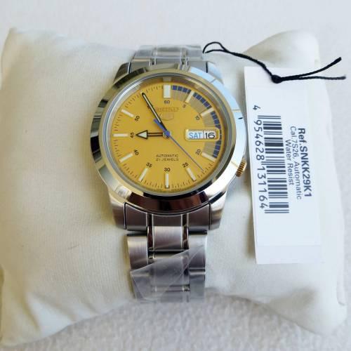 Relógio Masculino Seiko Automático SNKK29K1 Aço Inox 38,5 mm SEIKO-5  - E-Presentes