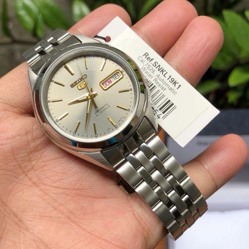 Relógio Masculino Seiko Automatico SNKL19K1 Aço Inox 38MM SEIKO-5  - E-Presentes