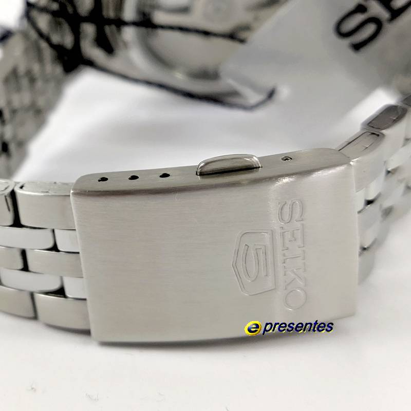 Relógio Masculino SNKL23K1 Seiko Automatico Aço Inox 38MM SEIKO-5  - E-Presentes