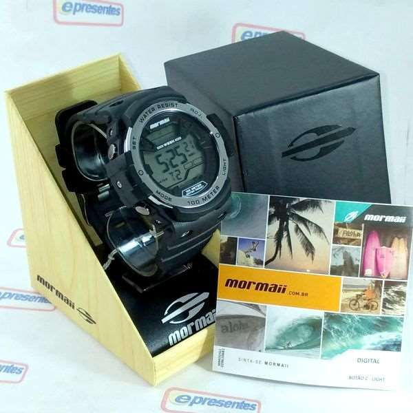 Relógio Mormaii Wave Masculino MO3500B/8K - Grande 51mm  - E-Presentes