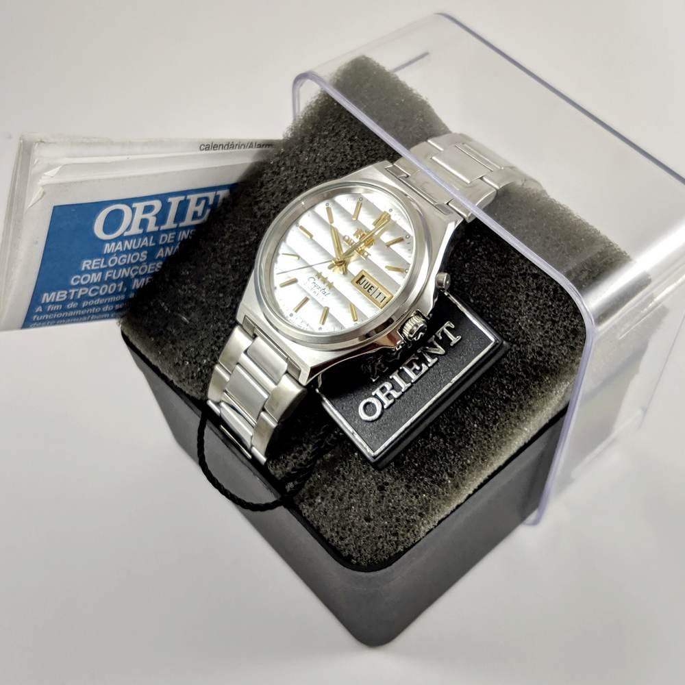 Relógio Orient Automático Aço 21jewels Prateado FEM5M012W9 35MM  - E-Presentes