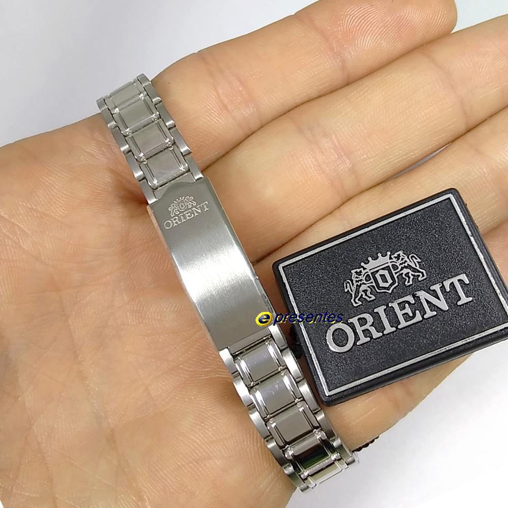 Relógio Orient Automatico Feminino Fnq05006c9 - 25mm largura  - E-Presentes