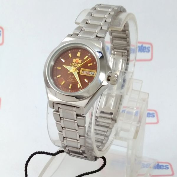 725f484c671 Relógio Orient Automatico Feminino Marrom Autêntico Fnq18004H9 - E-Presentes