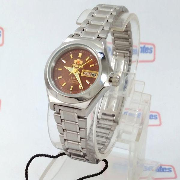 3c132032a58 Relógio Orient Automatico Feminino Marrom Autêntico Fnq18004H9 - E-Presentes