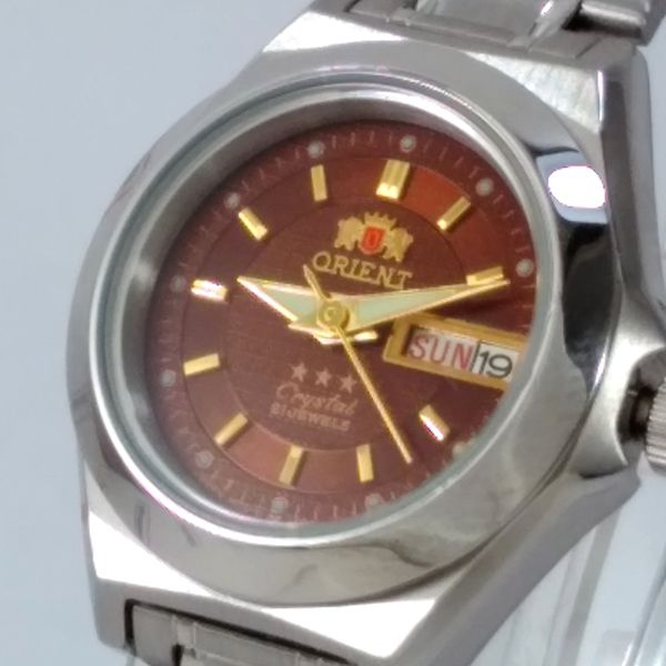 Relógio Orient Automatico Feminino Marrom Autêntico Fnq18004H9  - Alexandre Venturini