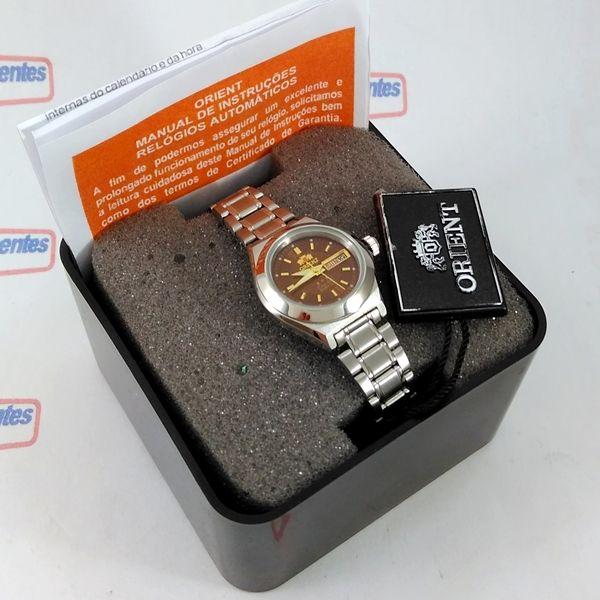 Relógio Orient Automatico Feminino Marrom Autêntico Fnq18004H9  - E-Presentes