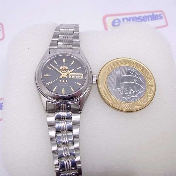 Relógio Orient Automático Feminino Mini Autêntico FNQ1X001B9  - E-Presentes