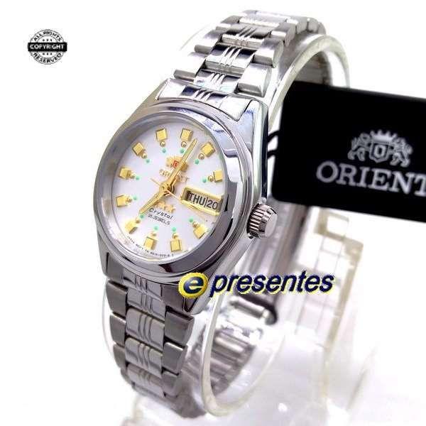 8d04858c48c53 Relógio Orient Automático Feminino Mini Autêntico FNQ1X003W9 - E-Presentes