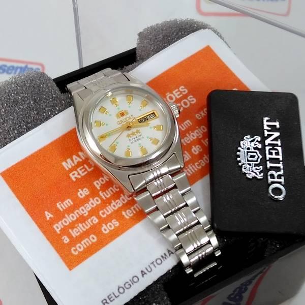 Relógio Orient Automático Feminino Mini Autêntico FNQ1X003W9   - E-Presentes
