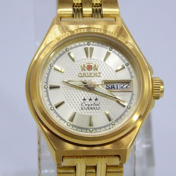 077dc42c0e6 ... Relógio Orient Automatico Feminino Mini Dourado FNQ1S001C9 - E-Presentes