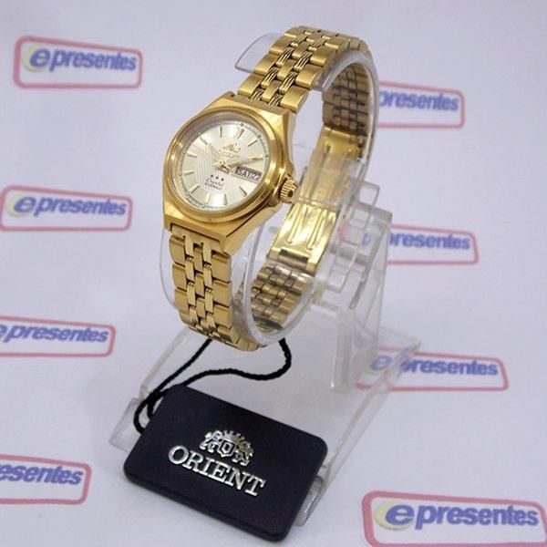 87af9ae0b54f8 Relógio Orient Automatico Feminino Mini Dourado FNQ1S001C9 - E-Presentes ...