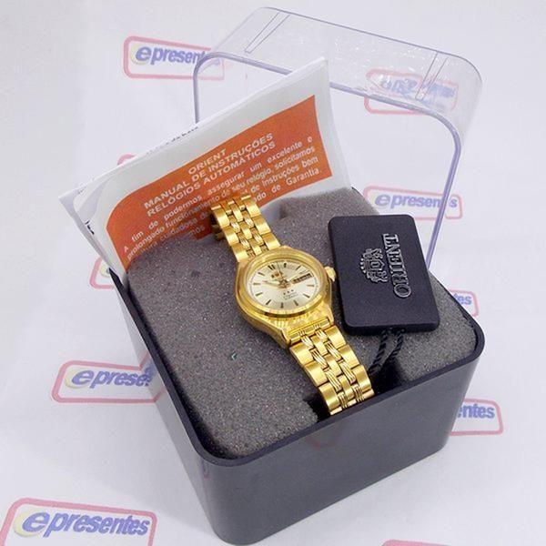 Relógio Orient Automatico Feminino Mini Dourado FNQ1S001C9  - E-Presentes