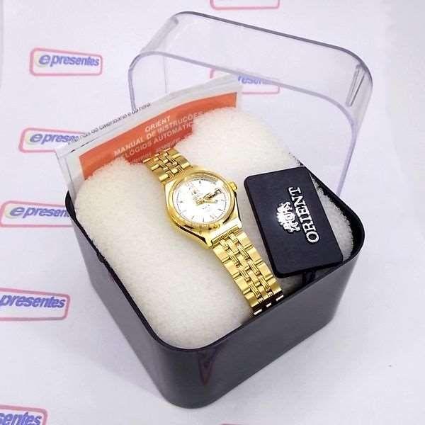 dbd555aa33122 ... Relógio Orient Automatico Feminino Mini Dourado FNQ1S003W9 - E-Presentes  ...