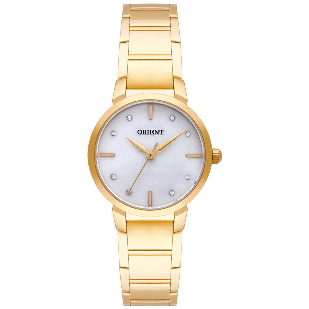 Relógio Orient Dourado Feminino 28MM Dourado FGSS0071-B1KX Eternal Quartz  - E-Presentes
