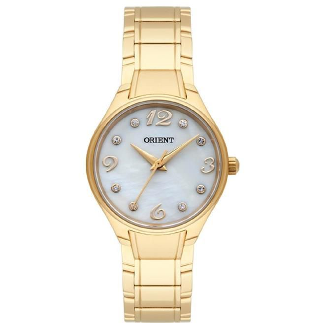 Relógio Orient Dourado Feminino 28MM Dourado FGSS0072-B2KX Eternal Quartz  - E-Presentes