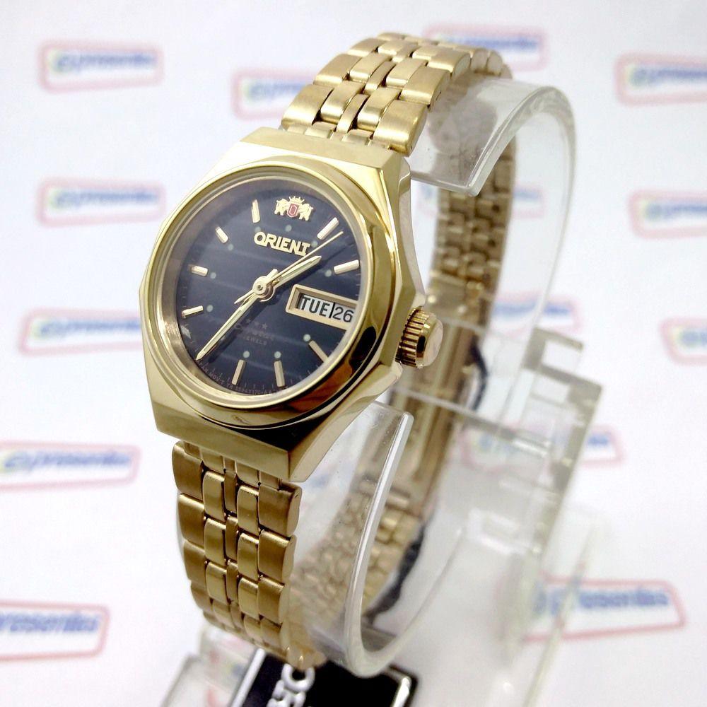 de1f8d6402d Relógio Orient Feminino Mini (25mm) Automatico Fnq09008b9 Dourado - E- Presentes