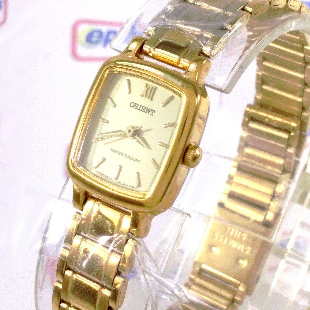 1a7302789918f Relógio Orient Feminino Mini Dourado Quartz Retrô 16mm UBJV-N0-A - E- Presentes