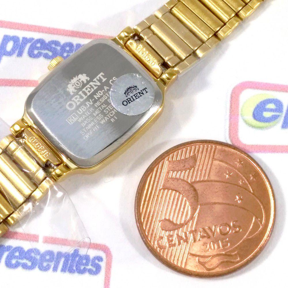 Relógio Orient Feminino Mini Dourado Quartz Retrô 16mm UBJV-N0-A  - E-Presentes