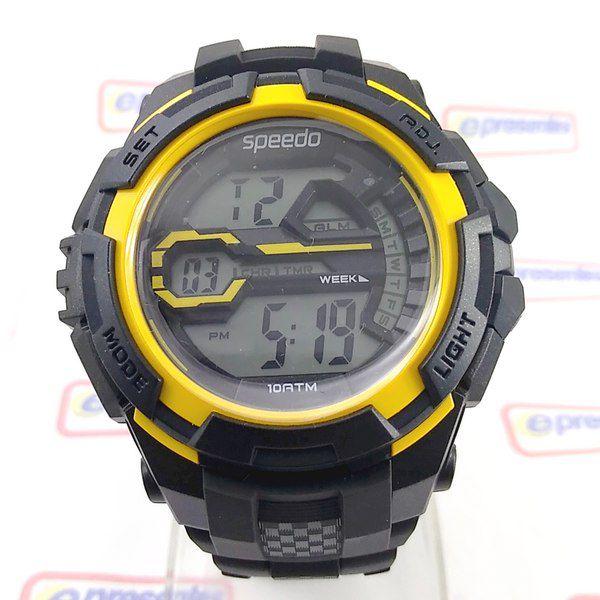 Relógio Speedo wr100 Grande 52mm Crono luz Digital  Masculino Crono luz  - E-Presentes