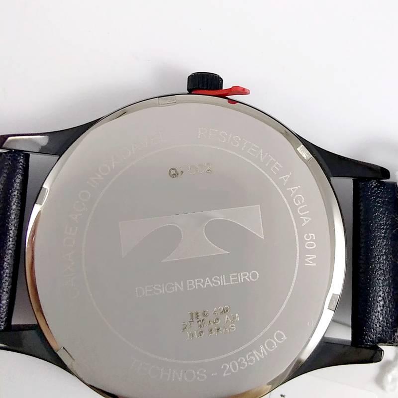 Relógio Technos Masculino Aço Pulseira Couro 2035MQQ/2B 42mm  - E-Presentes