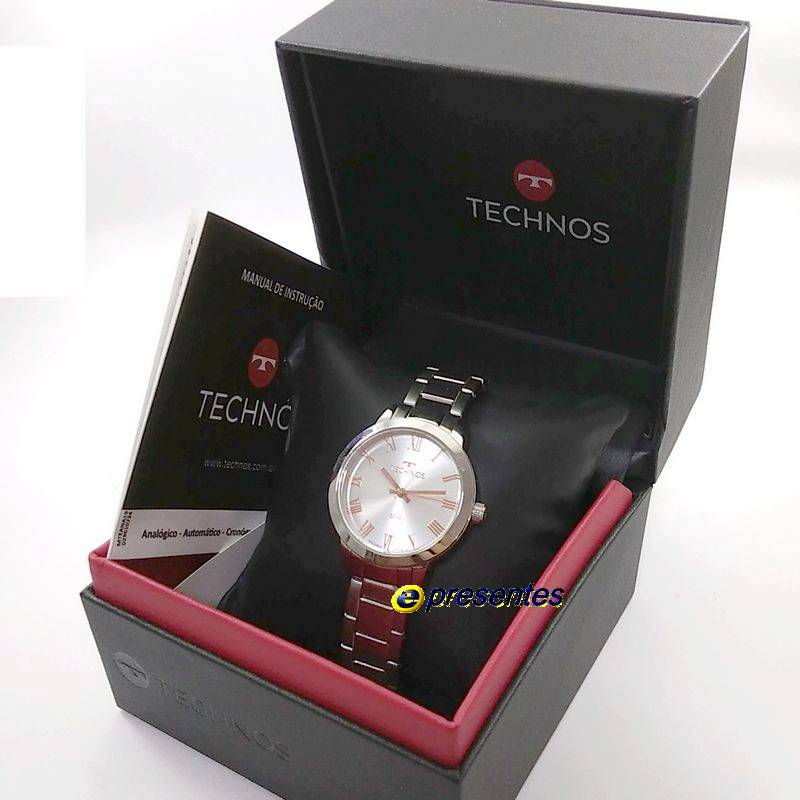 Relógio Feminino Technos Original Elegance Boutique  Prateado  2035MKV/1K  - E-Presentes