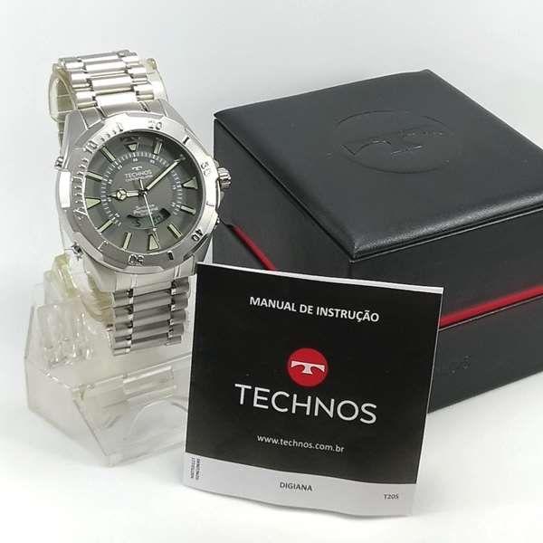7c1178b1afd RELÓGIO TECHNOS SKYDIVER 52MM ANADIGI MASCULINO T205FM 1C - E-Presentes
