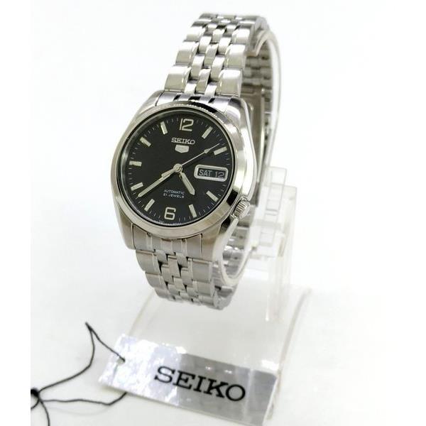 SNK393K1 Relógio Automático Seiko 5 Pulseira Aço Inox 37mm Fundo Preto  - Alexandre Venturini