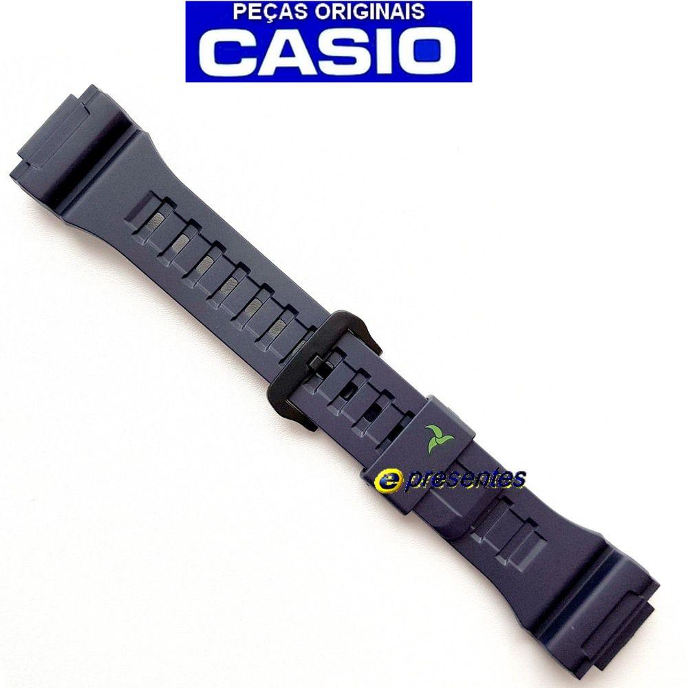 STL-S100h-2a2 Pulseira Casio Resina Azul Escuro 100% original   - E-Presentes