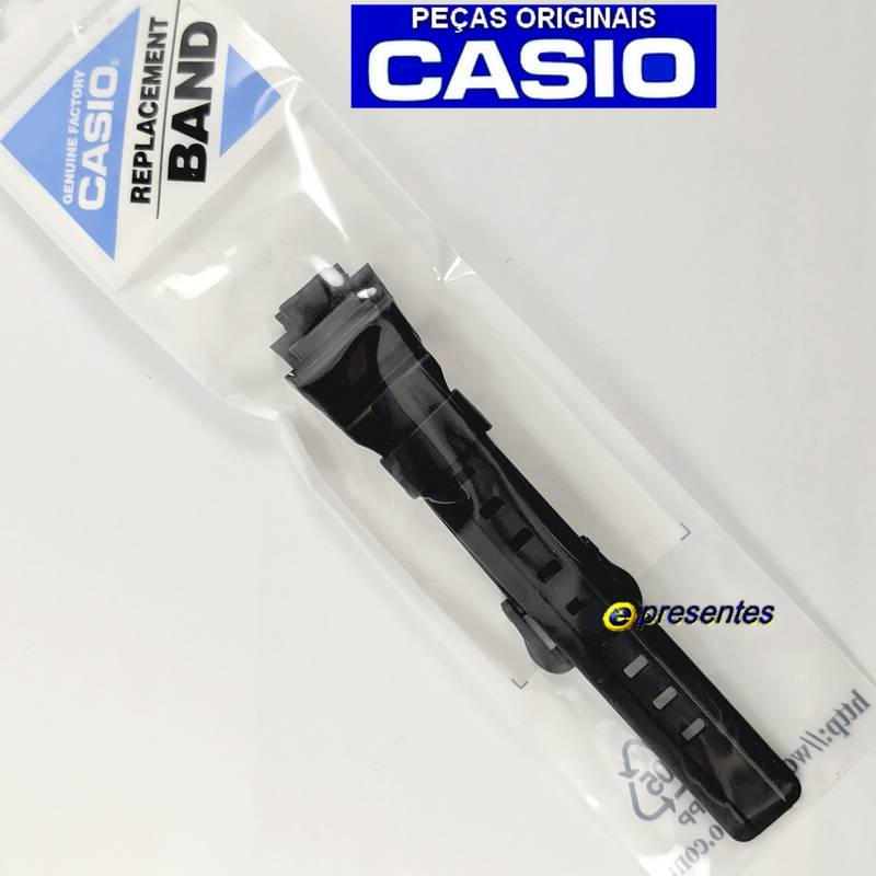 STL-S300H-1A - Pulseira Casio Resina Preta 100% original *  - E-Presentes