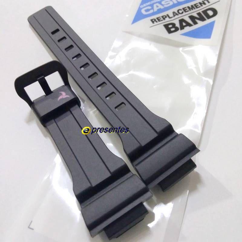 STL-S300H-1C Pulseira Casio Resina Preta 100% original *  - E-Presentes