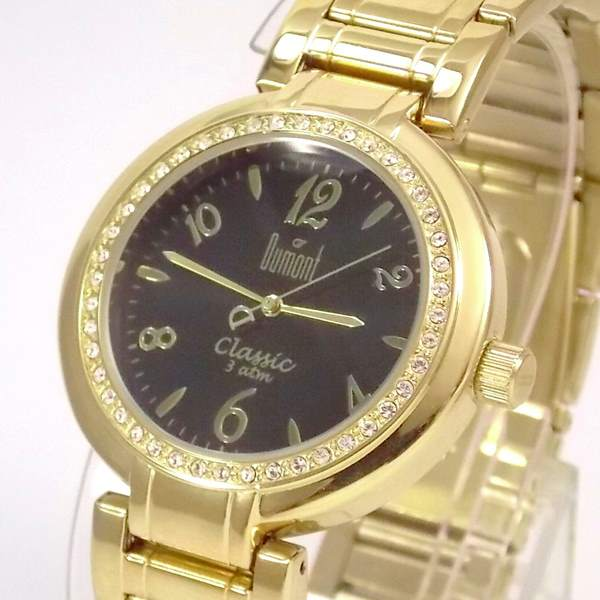 SW85026P Relógio Feminino Dumont Dourado Cristais Swarovski  - Alexandre Venturini