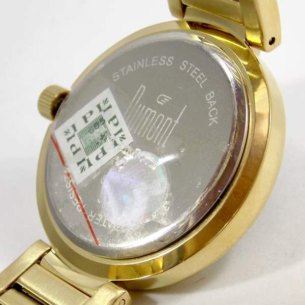 SW85026X Relógio Dumont Feminino Dourado Cristais Swarovski  - E-Presentes