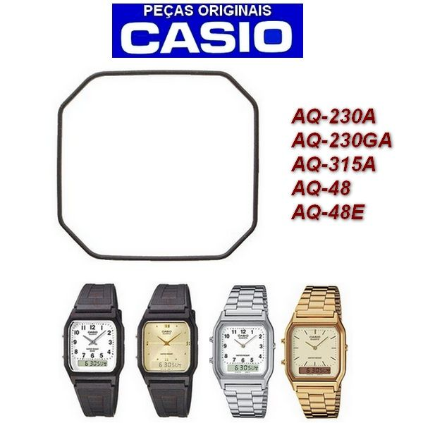 Vedação Casio AnaDigi AQ-230A AQ-230GA AQ-315A AQ-48 AQ-48E  - E-Presentes