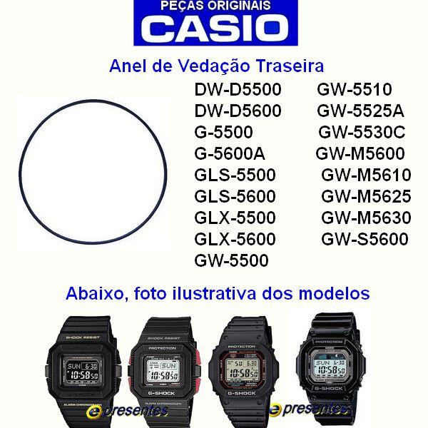 Vedação Casio G-shock G-5500 G-5600 Glx-5600 GLS-5500 E OUTROS  - E-Presentes