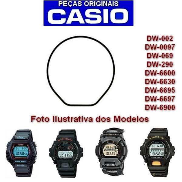 Anel de Vedação Traseiro Casio Gshock  Dw-6900 Dw-6600 Dw-290 Dw-002 Dw-0097 Dw-069 DW-8400 W-740  - E-Presentes
