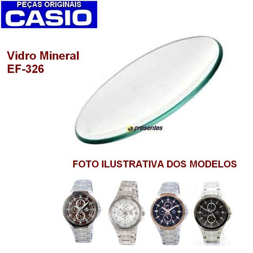 Vidro Mineral Casio Edifice EF-326d e EF-326zd - Peça 100% Autêntica   - E-Presentes