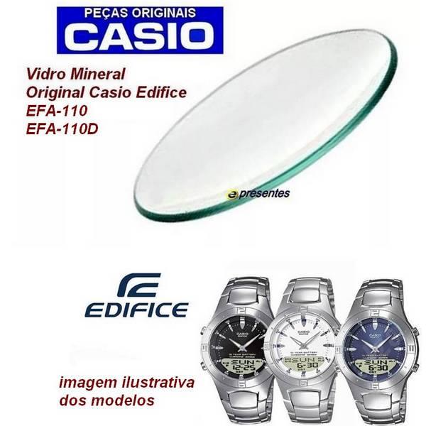 Vidro Mineral Casio Edifice EFA-110 / EFA110D  - E-Presentes