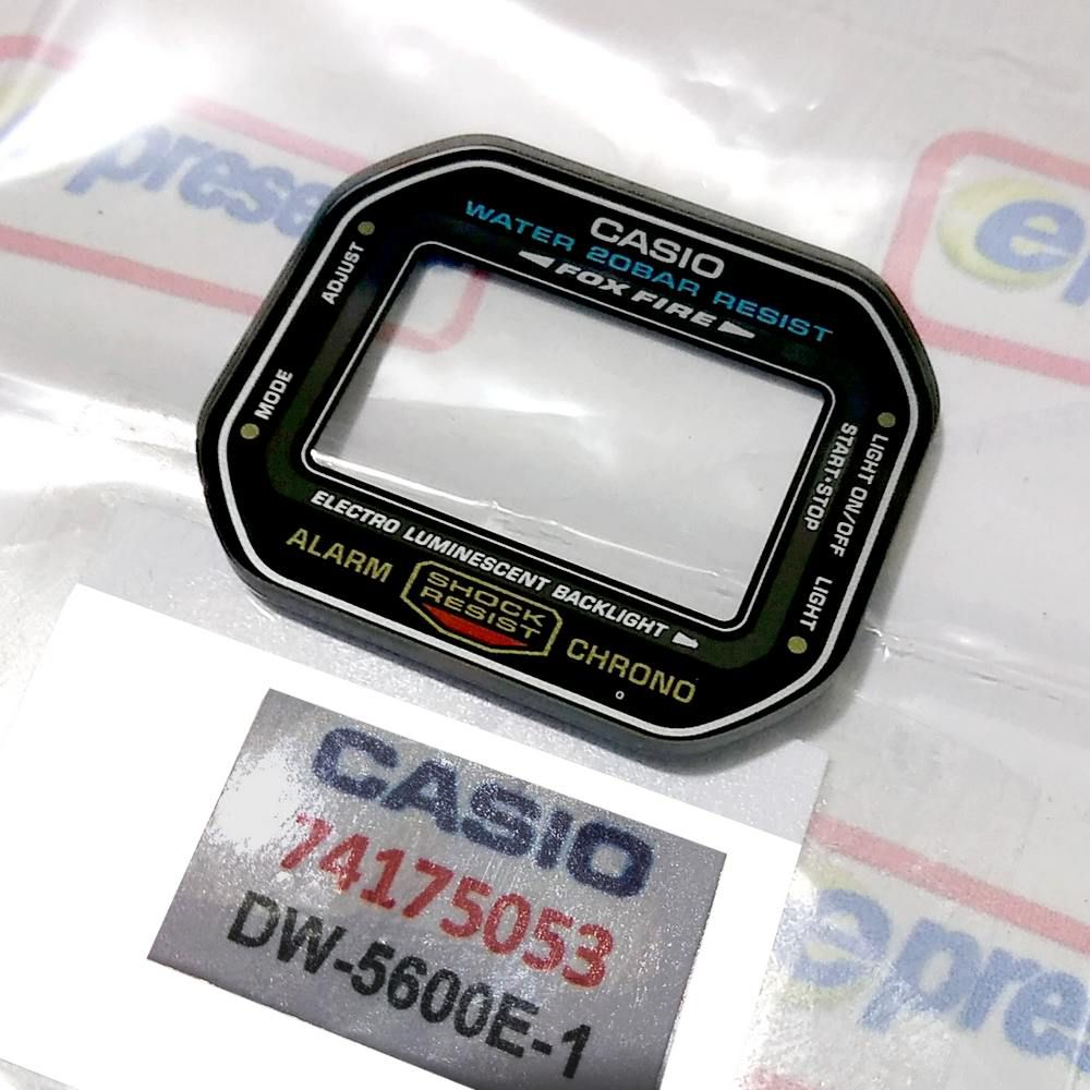 Vidro Mineral Casio G-Shock DW-5600E-1 (3229) - Peça 100% Autêntica  - E-Presentes