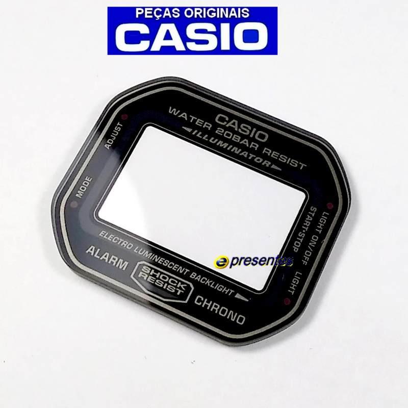 Vidro Mineral Casio g-Shock DW-5600MS-1 - Peça 100% Autêntica  - E-Presentes