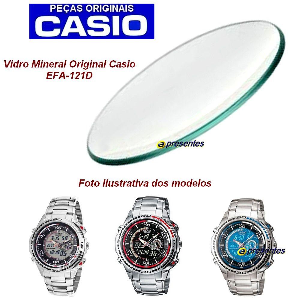 Vidro Mineral Esférico Casio Edifice EFA-121D - Peça 100% Autêntica  - E-Presentes