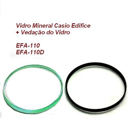 Vidro Mineral + Vedação do vidro Casio Edifice EFA-110 (todos)  - E-Presentes