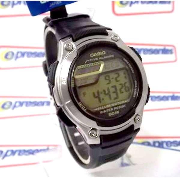 W-212H-9AV Relogio Casio Digital 5 Alarmes Wr50 Illuminator  - E-Presentes