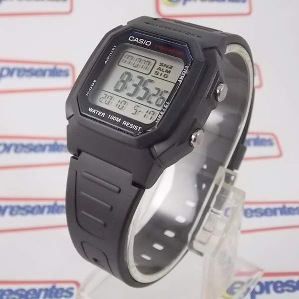 W-800H-1AV Relógio Casio Digital WR100M - 100% Autentico  - E-Presentes
