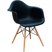Cadeira eames com braço Dkr Eiffel base wood