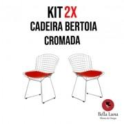 Kit 2X Cadeira Bertoia Cromada
