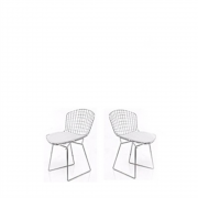 Kit 2x Cadeira Bertoia Inox