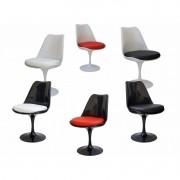 KIT 4 cadeira Saarinen Sem Braços