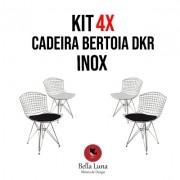 Kit 4x Cadeira Bertoia Dkr Inox