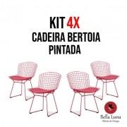 Kit 4x Cadeira Bertoia Pintada