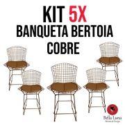Kit 5x Banqueta Bertoia Cobre